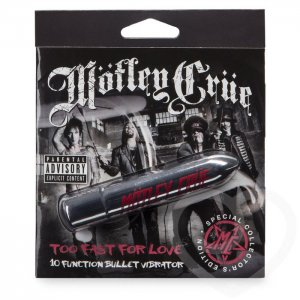 Серебристая вибропуля Motley Crue Too Fast for Love