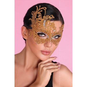 Золотистая ажурная маска Mask Golden